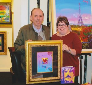 Jane and Peter Max in 2016